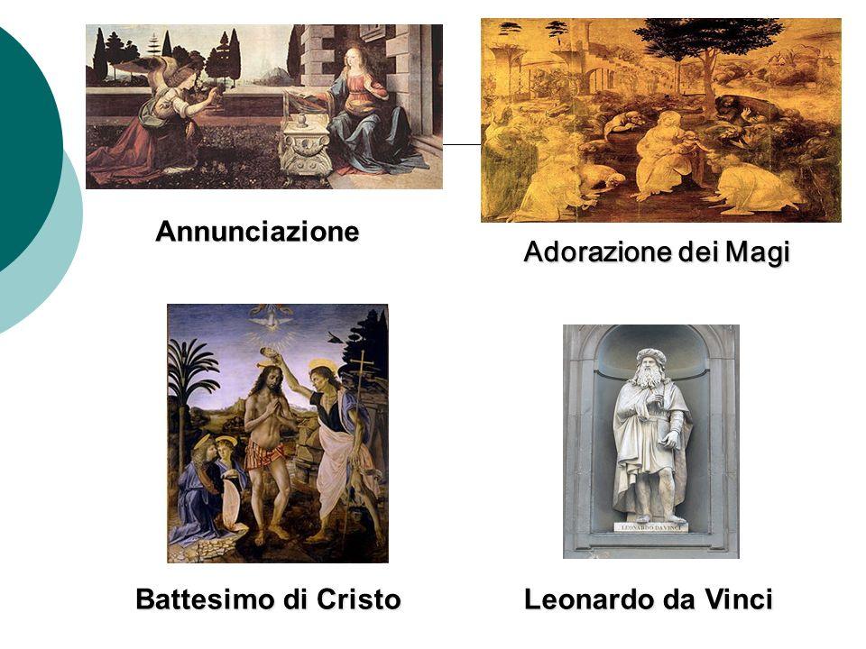 Battesimo di Cristo Annunciazione Leonardo da Vinci Adorazione dei Magi Adorazione dei Magi
