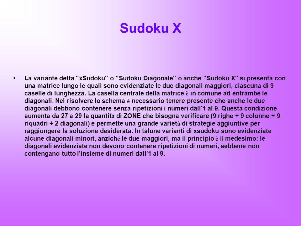 Sudoku Y È la variante ideata nel 2008 dal campione italiano Gabriele Simionato.