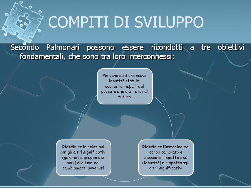 Secondo Palmonari possono essere ricondotti a tre obiettivi fondamentali, che sono tra loro interconnessi: Pervenire ad una nuova identità stabile, co