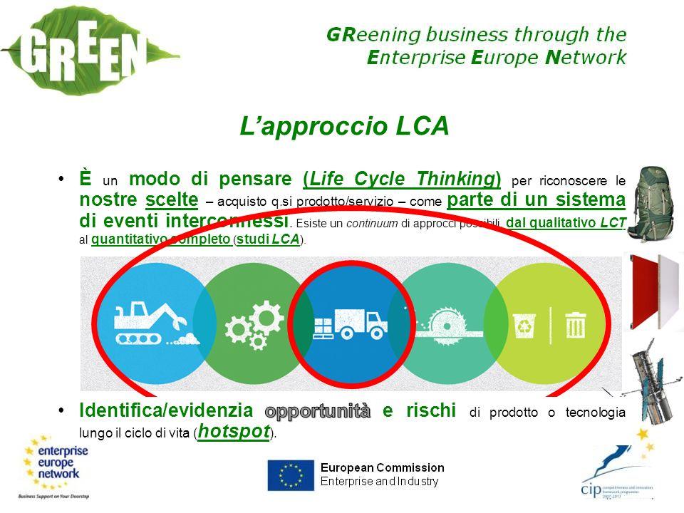 ECOLABEL DI TIPO I (ISO 14024) E un etichetta del tipo B2C (Business to Consumer) in quanto indirizzata all utilizzatore finale.
