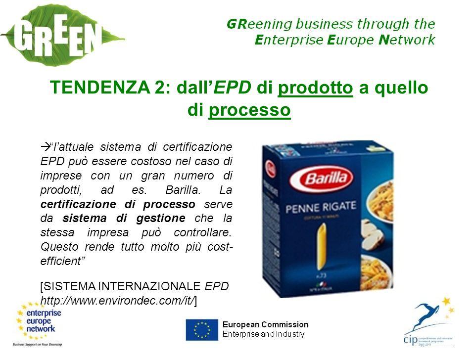 lattuale sistema di certificazione EPD può essere costoso nel caso di imprese con un gran numero di prodotti, ad es. Barilla. La certificazione di pro