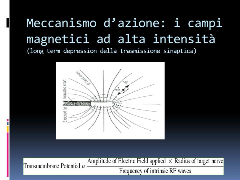 Meccanismo dazione: i campi magnetici ad alta intensità (long term depression della trasmissione sinaptica)