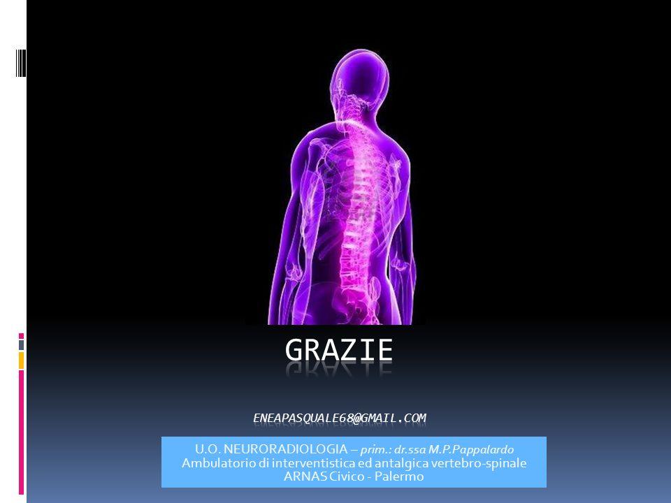U.O. NEURORADIOLOGIA – prim.: dr.ssa M.P.Pappalardo Ambulatorio di interventistica ed antalgica vertebro-spinale ARNAS Civico - Palermo