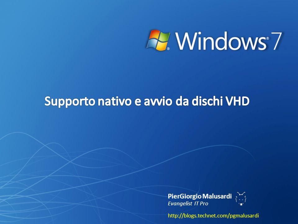 piergiorgio.malusardi@microsoft.com Installazione di Windows 7 da Install.wim con Imagex.exe Aggiunta di un VHD con Windows 7 al menu di boot di un PC con Windows 7