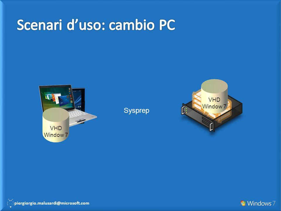 piergiorgio.malusardi@microsoft.com VHD Window 7 VHD Window 7 Sysprep