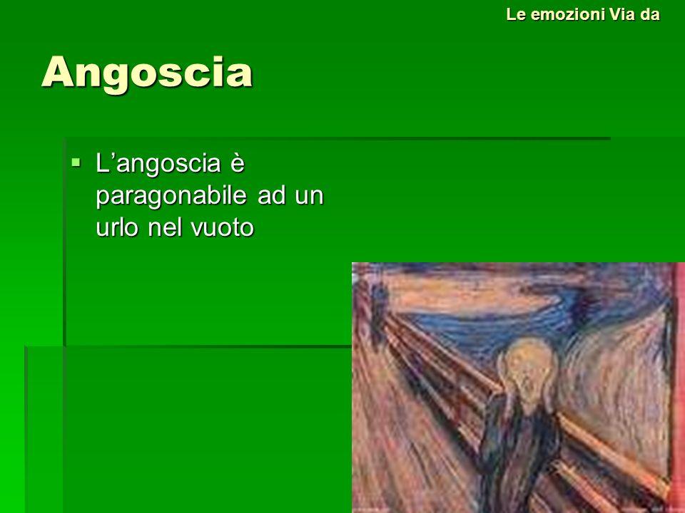 Angoscia Langoscia è paragonabile ad un urlo nel vuoto Langoscia è paragonabile ad un urlo nel vuoto Le emozioni Via da