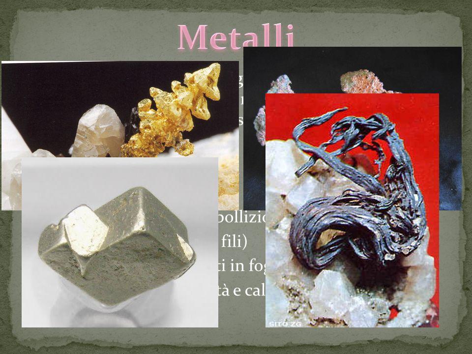 Nella tavola di Mendeleev gli elementi sono raggruppati in metalli non metalli semimetalli e gas nobili ma cosa li contraddistingue? I metalli: 1. Sal