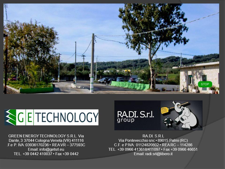 GREEN ENERGY TECHNOLOGY S.R.L. Via Dante, 3 37044 Cologna Veneta (VR) 411116.F.e P. IVA :03936170236 REA VR – 377593C Email: info@getsrl.eu TEL. +39 0