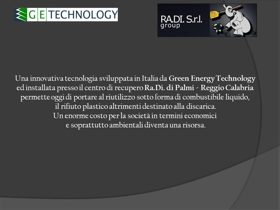 La Tecnologia è : implementata in un impianto industriale completamente automatico installata ed operativa presso una piattaforma di trattamento e selezione di varie tipologie di rifiuti ben inserita nel territorio e nella rete nazionale di valorizzazione dei rifiuti conforme alle norme Italiane ed Internazionali autorizzato ad operare