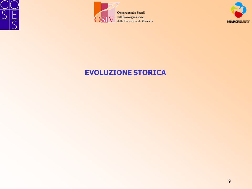 9 EVOLUZIONE STORICA