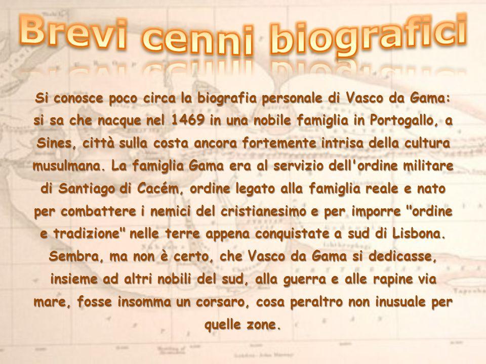 Si conosce poco circa la biografia personale di Vasco da Gama: si sa che nacque nel 1469 in una nobile famiglia in Portogallo, a Sines, città sulla costa ancora fortemente intrisa della cultura musulmana.