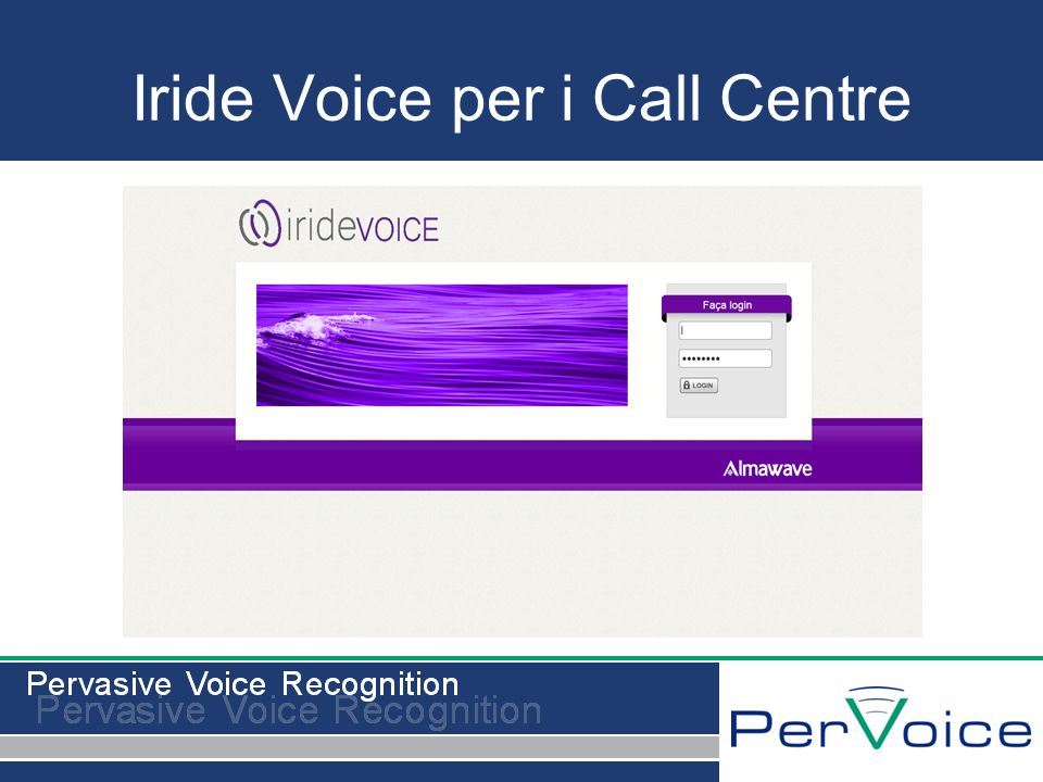 Iride Voice per i Call Centre