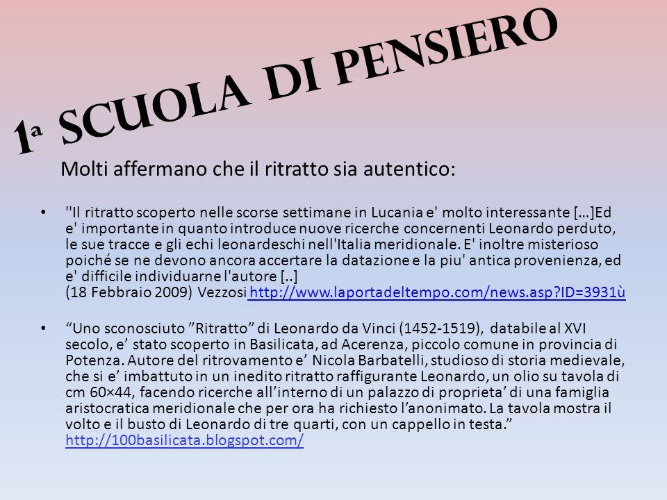 Comè noto il probabile autoritratto di Leonardo da Vinci, è stato denominato fin dalle prime uscite stampa Tavola Lucana o ritratto di Acerenza.