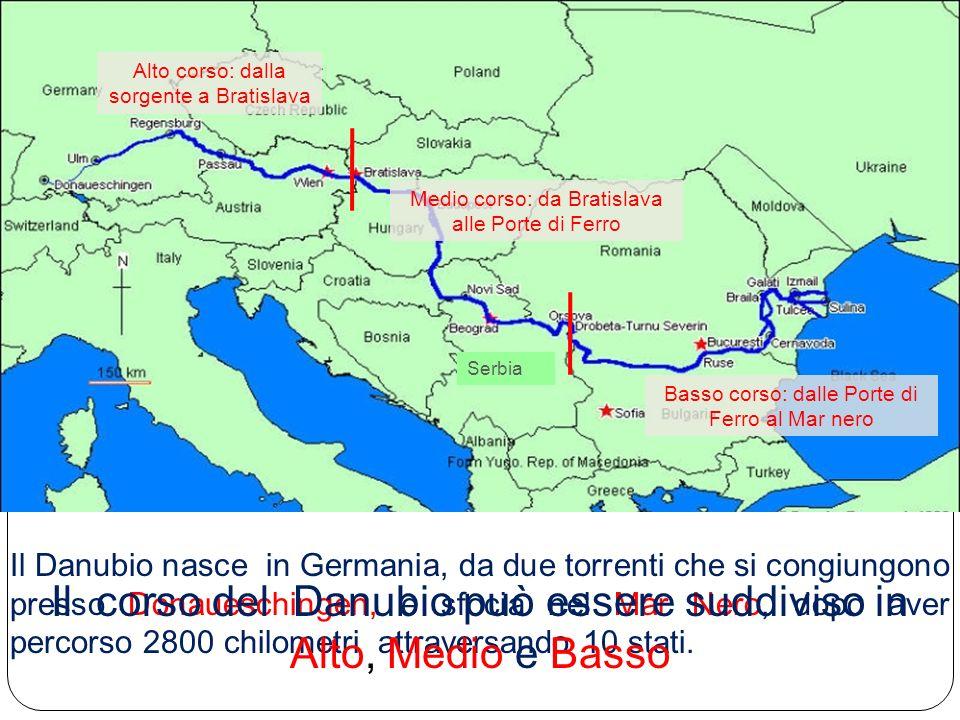 Il Danubio nasce in Germania, da due torrenti che si congiungono presso Donaueschingen, e sfocia nel Mar Nero, dopo aver percorso 2800 chilometri attr