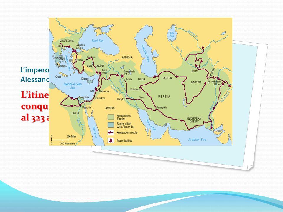 Limpero di Alessandro Magno Litinerario di conquista fino al 323 a. C.
