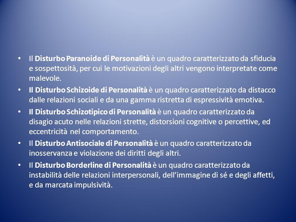 Il Disturbo Paranoide di Personalità è un quadro caratterizzato da sfiducia e sospettosità, per cui le motivazioni degli altri vengono interpretate co
