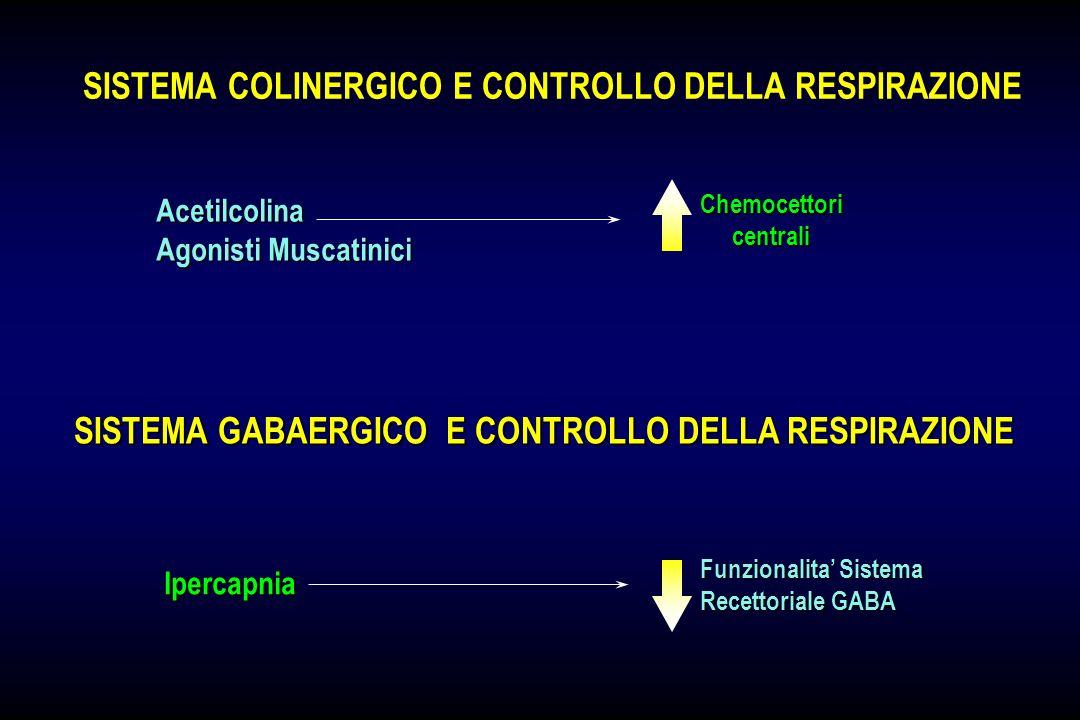 SISTEMA NORADRENERGICO E CONTROLLO DELLA RESPIRAZIONE Noradrenalina Risposta Ventilatoria alla CO 2 Locus Coeruleus & Neuroni NA del tronco Chemocetto