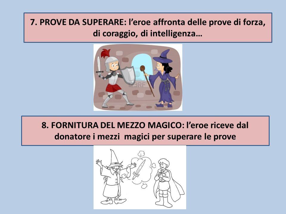 7.PROVE DA SUPERARE: leroe affronta delle prove di forza, di coraggio, di intelligenza… 8.