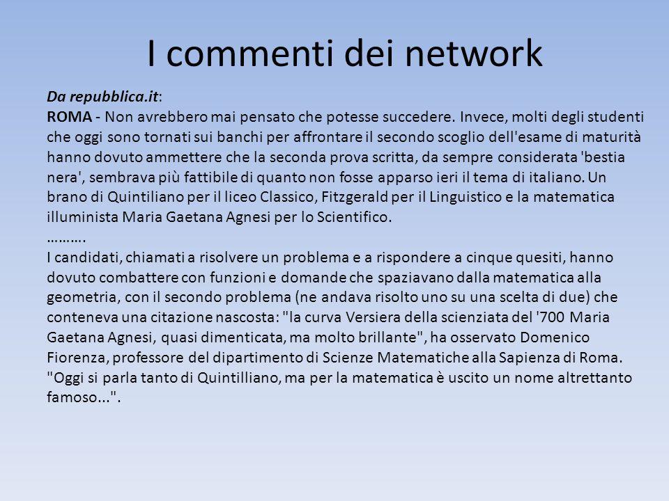 I commenti dei network Da repubblica.it: ROMA - Non avrebbero mai pensato che potesse succedere. Invece, molti degli studenti che oggi sono tornati su