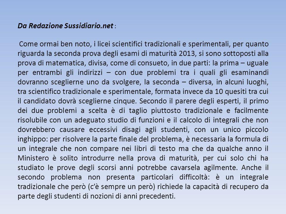 Da Redazione Sussidiario.net : Come ormai ben noto, i licei scientifici tradizionali e sperimentali, per quanto riguarda la seconda prova degli esami