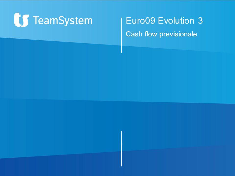 Euro09 Evolution 3 Cash flow previsionale