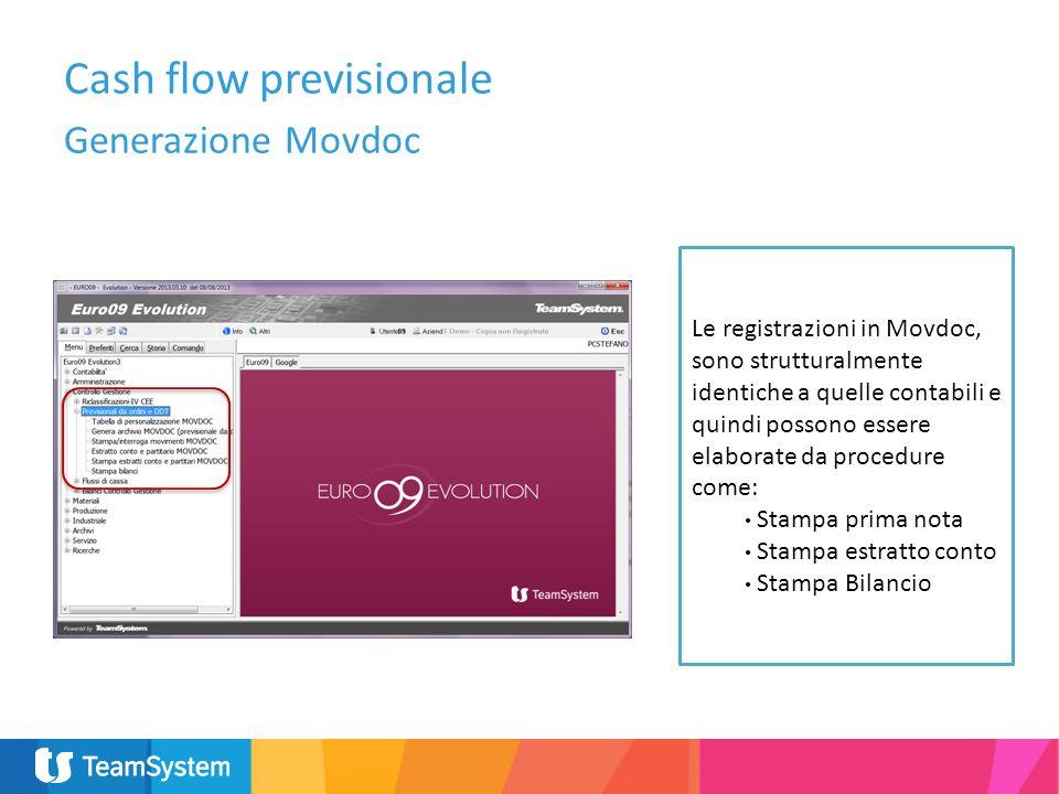 Le registrazioni in Movdoc, sono strutturalmente identiche a quelle contabili e quindi possono essere elaborate da procedure come: Stampa prima nota S