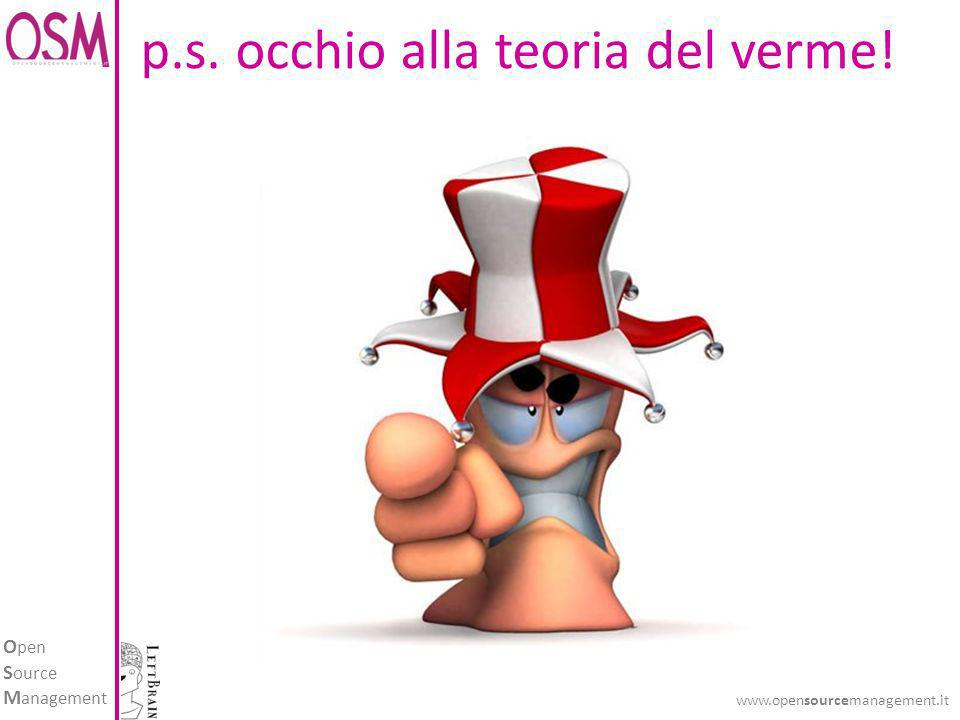 O pen S ource M anagement www.opensourcemanagement.it p.s. occhio alla teoria del verme!