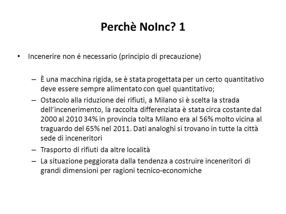 Perchè NoInc? 1 Incenerire non é necessario (principio di precauzione) – È una macchina rigida, se è stata progettata per un certo quantitativo deve e