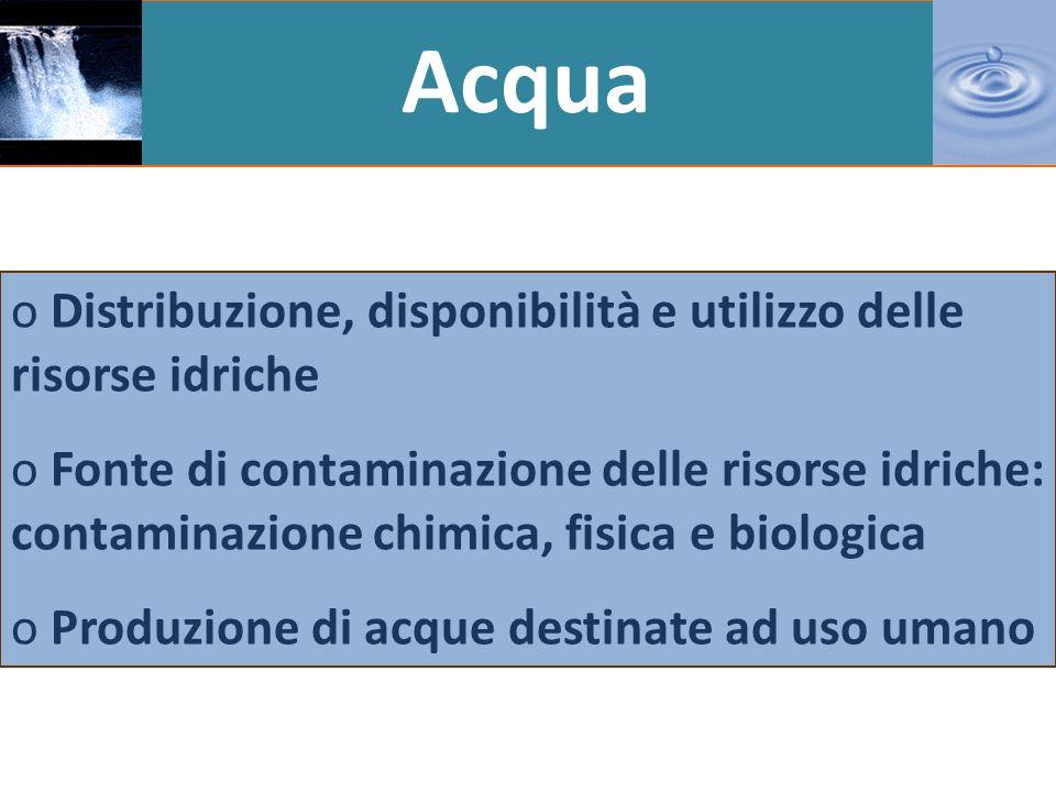 Aria o Composizione chimica e caratteristiche fisiche dellaria o Inquinamento atmosferico: definizione e principali inquinanti aerodispersi o La tutela dellozono stratosferico o Effetto serra