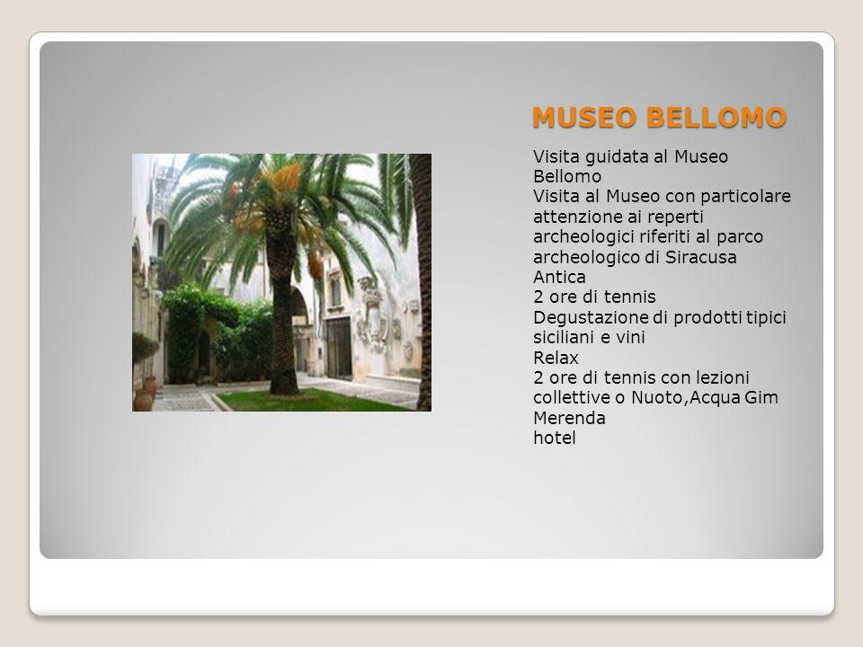 MUSEO BELLOMO Visita guidata al Museo Bellomo Visita al Museo con particolare attenzione ai reperti archeologici riferiti al parco archeologico di Sir