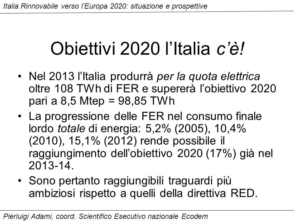 Obiettivi 2020 lItalia cè.