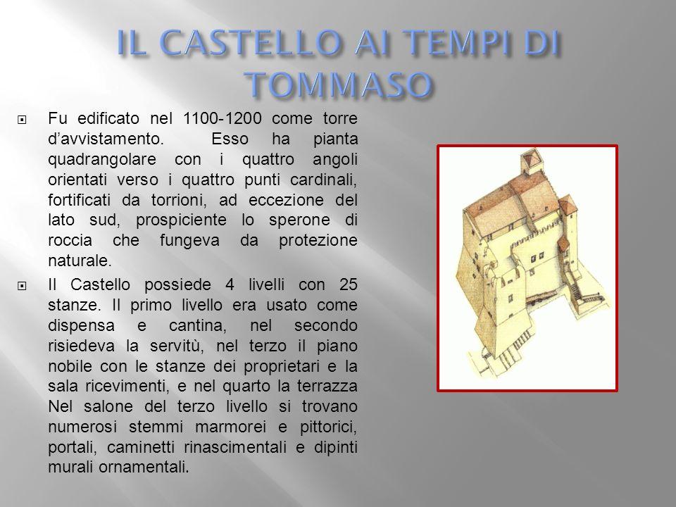 Fu edificato nel 1100-1200 come torre davvistamento. Esso ha pianta quadrangolare con i quattro angoli orientati verso i quattro punti cardinali, fort