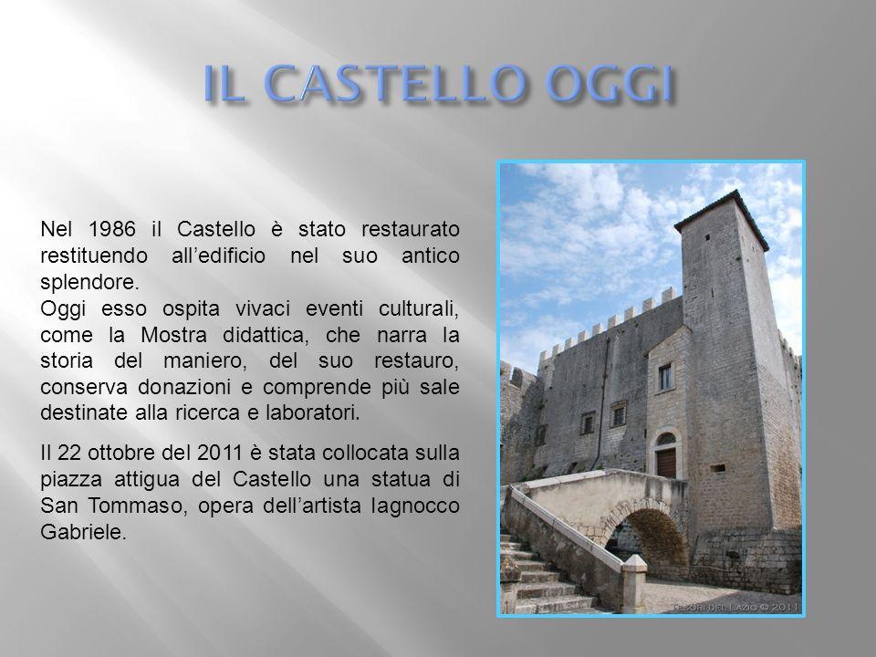Nel 1986 il Castello è stato restaurato restituendo alledificio nel suo antico splendore. Oggi esso ospita vivaci eventi culturali, come la Mostra did