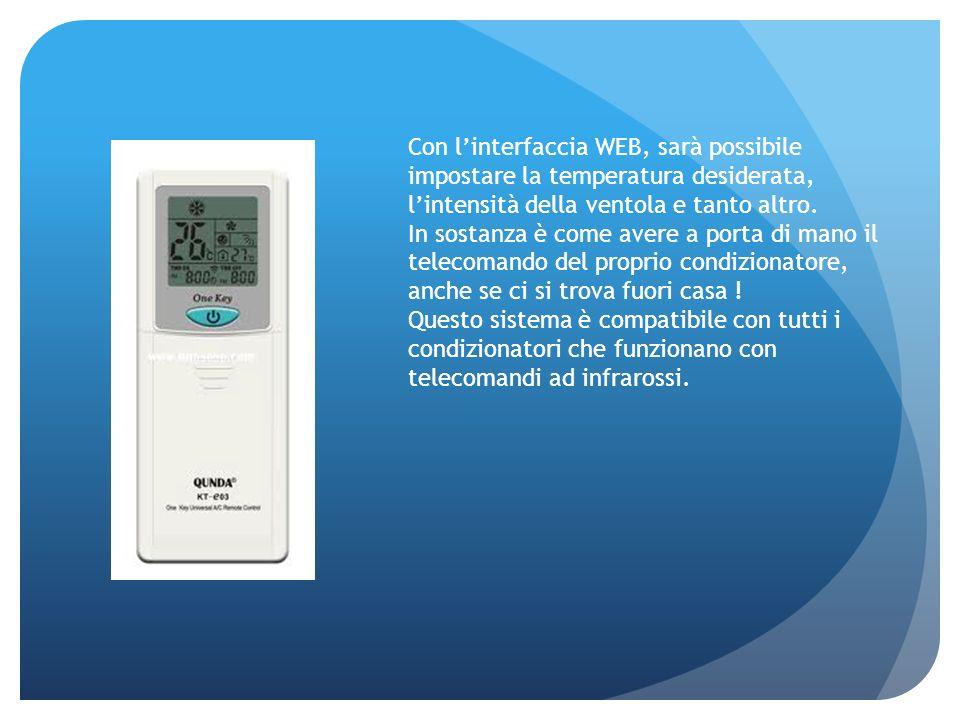 Con linterfaccia WEB, sarà possibile impostare la temperatura desiderata, lintensità della ventola e tanto altro. In sostanza è come avere a porta di