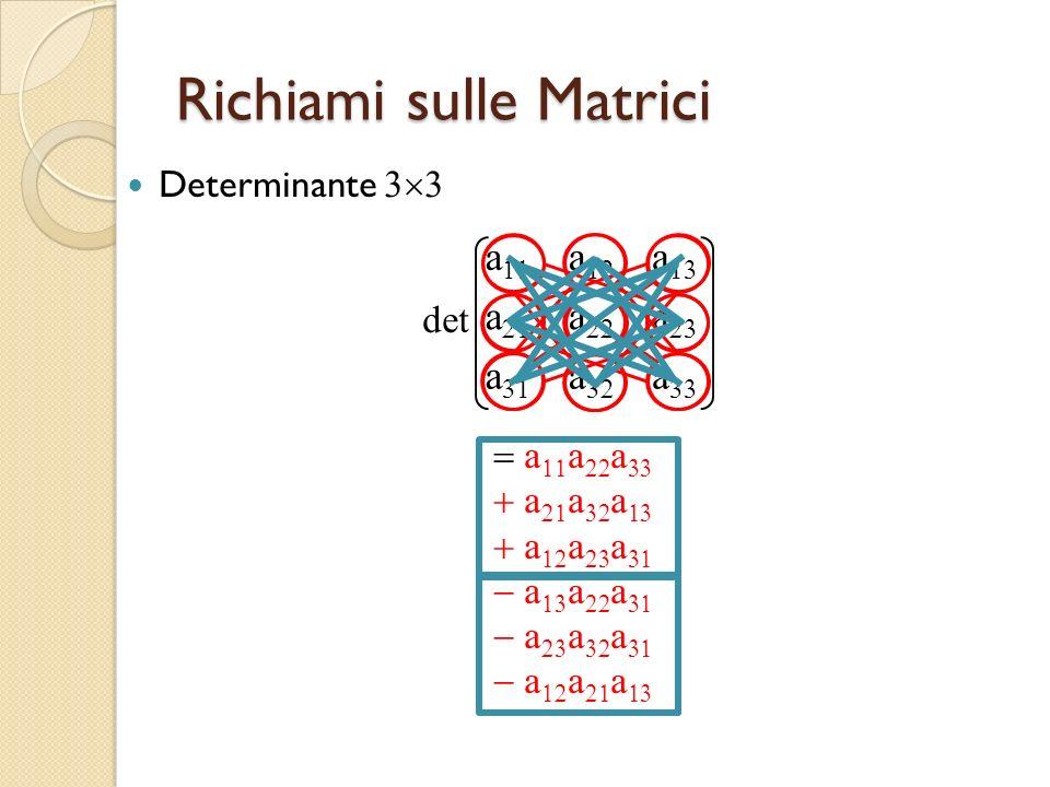 Richiami sulle Matrici Determinante detaaaaaaaaaaaaaaa a a a a a a a a a a a a