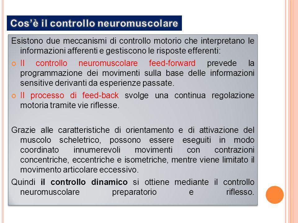 Esistono due meccanismi di controllo motorio che interpretano le informazioni afferenti e gestiscono le risposte efferenti: Il controllo neuromuscolare feed-forward prevede la programmazione dei movimenti sulla base delle informazioni sensitive derivanti da esperienze passate.