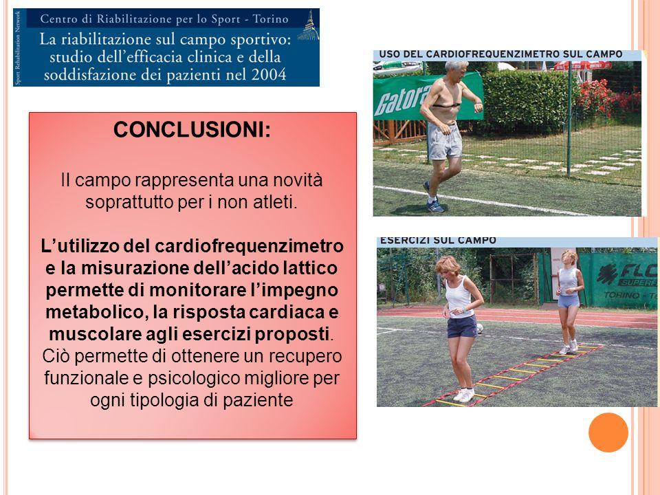 CONCLUSIONI: Il campo rappresenta una novità soprattutto per i non atleti.