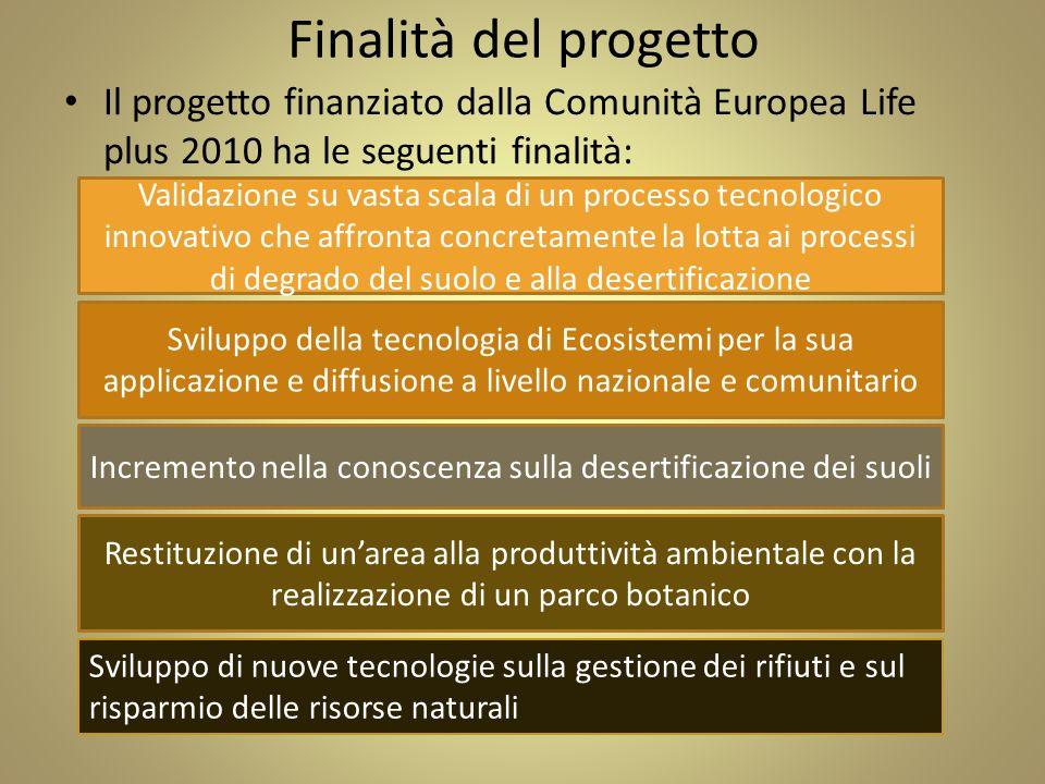 Finalità del progetto Il progetto finanziato dalla Comunità Europea Life plus 2010 ha le seguenti finalità: Validazione su vasta scala di un processo