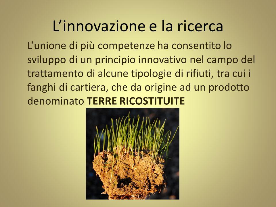Linnovazione e la ricerca Lunione di più competenze ha consentito lo sviluppo di un principio innovativo nel campo del trattamento di alcune tipologie