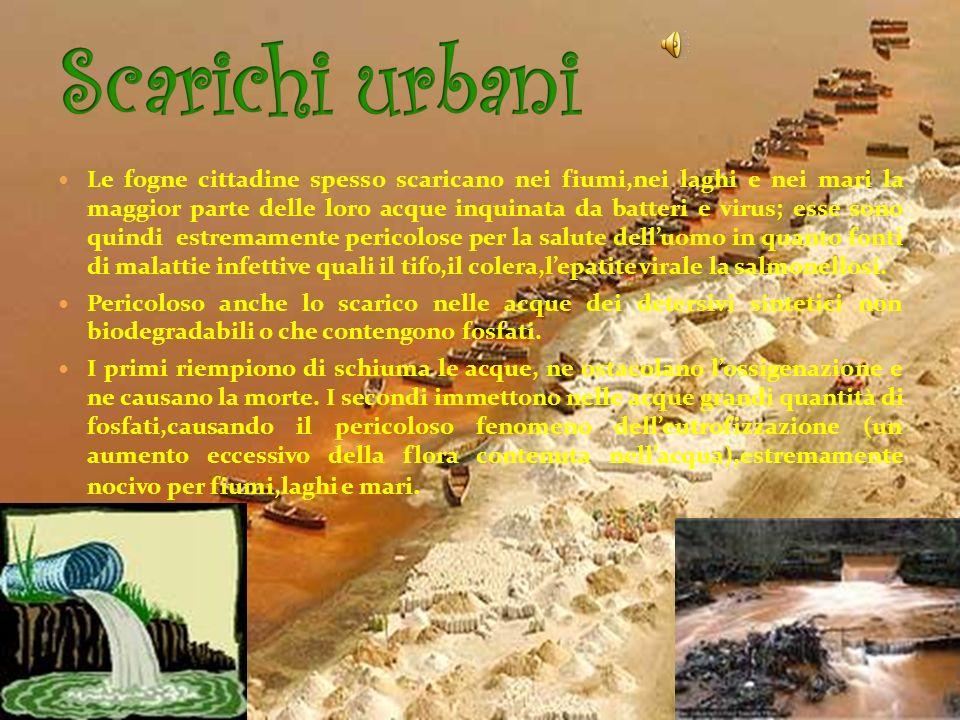 Numerose attività umane influiscono sulla qualità dellacqua, provocando unalterazione delle sue caratteristiche, questa modificazione è detta inquinam