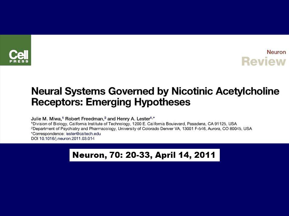 Neuron, 70: 20-33, April 14, 2011