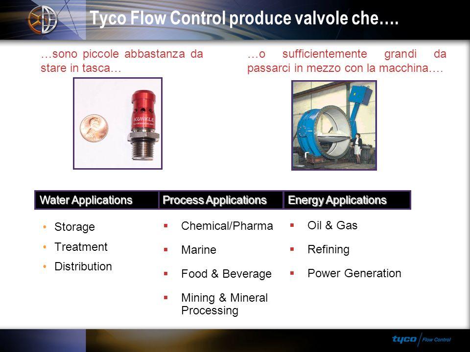 Tyco Flow Control produce valvole che…. …o sufficientemente grandi da passarci in mezzo con la macchina…. …sono piccole abbastanza da stare in tasca…
