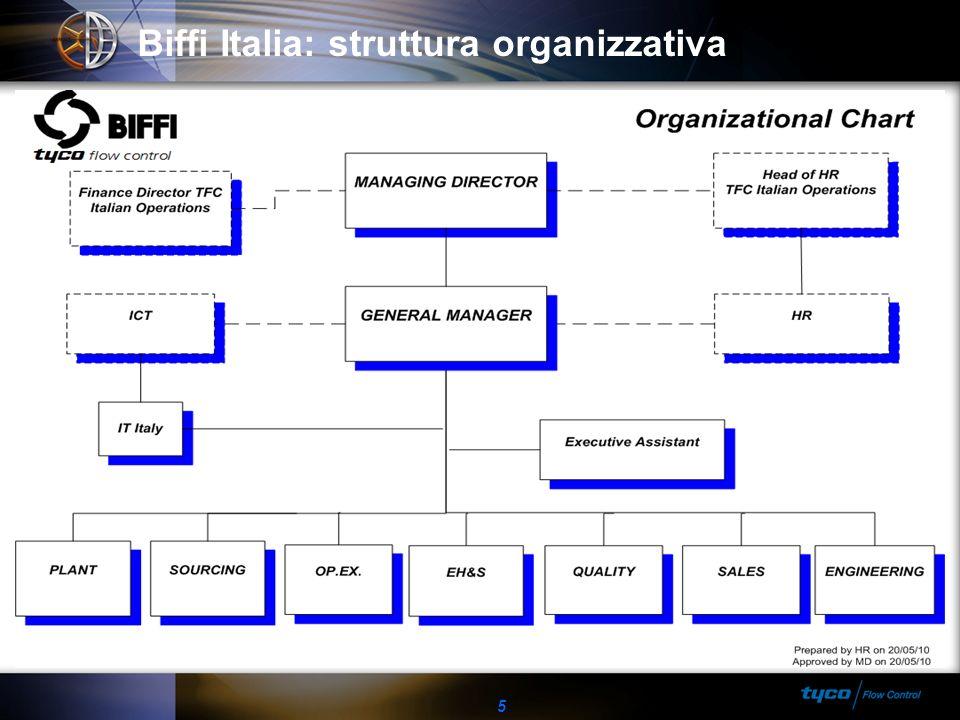 5 Biffi Italia: struttura organizzativa