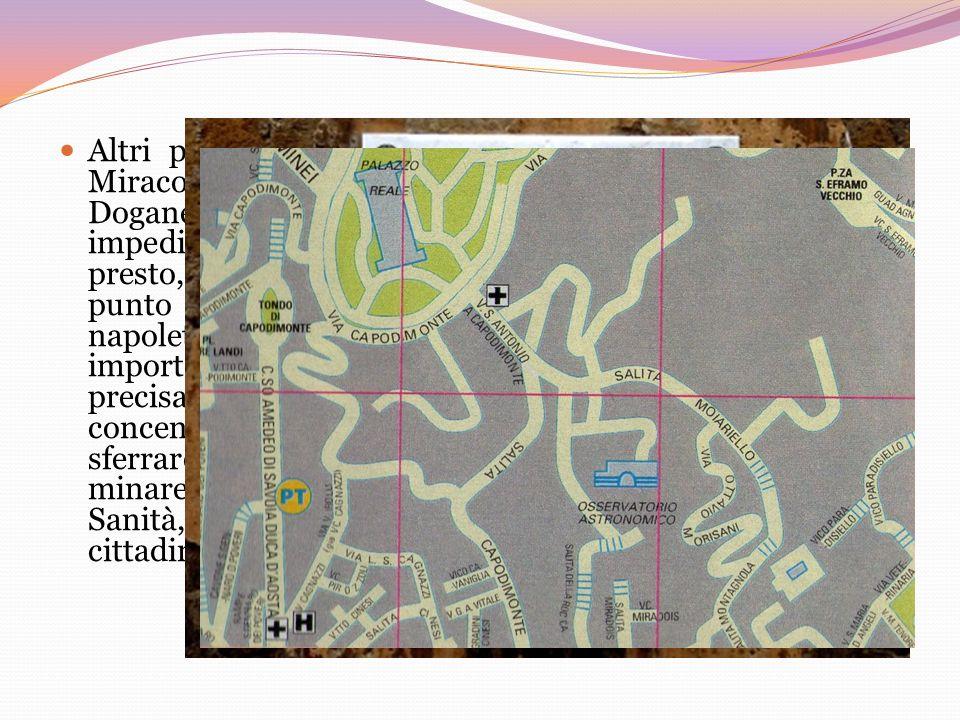Altri punti strategici da controllare erano la zona dei Miracoli e dellOrto Botanico, Piazza Carlo III e la Doganella; bisognava controllare questi lu