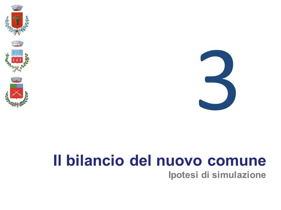 3 Il bilancio del nuovo comune Ipotesi di simulazione