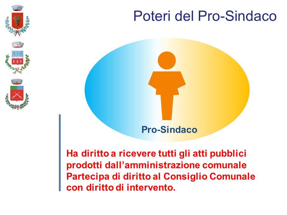 Ha diritto a ricevere tutti gli atti pubblici prodotti dallamministrazione comunale Partecipa di diritto al Consiglio Comunale con diritto di intervento.