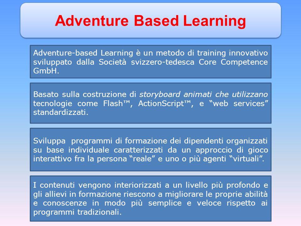 Adventure Based Learning Adventure-based Learning è un metodo di training innovativo sviluppato dalla Società svizzero-tedesca Core Competence GmbH.