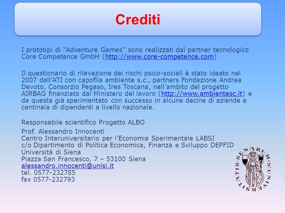 I prototipi di Adventure Games sono realizzati dal partner tecnologico Core Competence GmbH (http://www.core-competence.com)http://www.core-competence