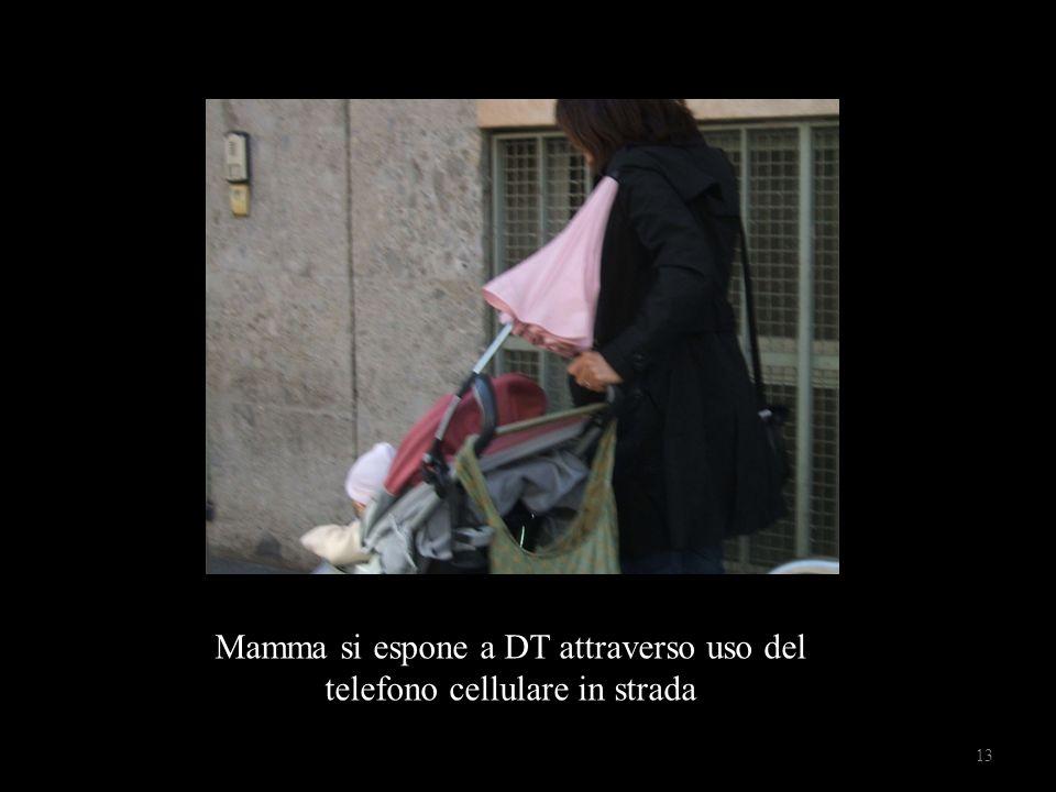 Mamma si espone a DT attraverso uso del telefono cellulare in strada 13