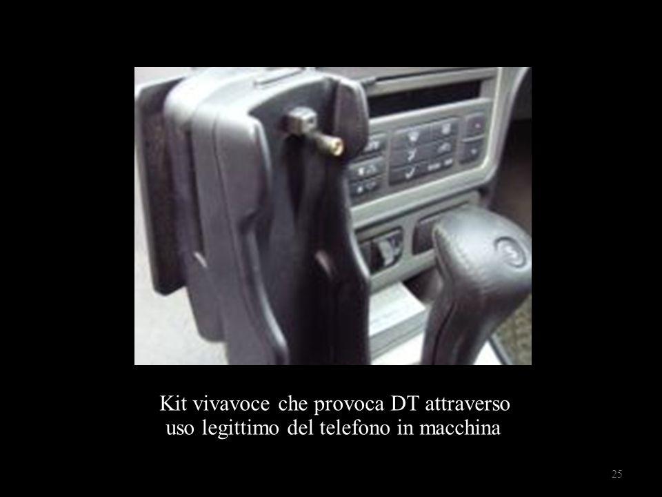 Kit vivavoce che provoca DT attraverso uso legittimo del telefono in macchina 25